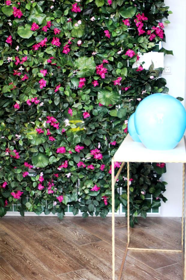 O jardim vertical é solução ideal para pequenos espaços. Flores e ou folhagens dão vida e charme