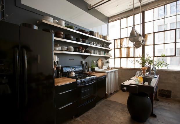 A cozinha, linda, de Alina.