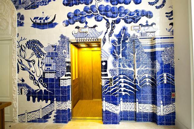 Ideia incrível para um hall de entrada ou lavabo, o hall do Only You é puro charme.