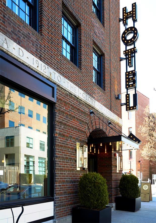 Fachada do Dean Hotel, em Providence.