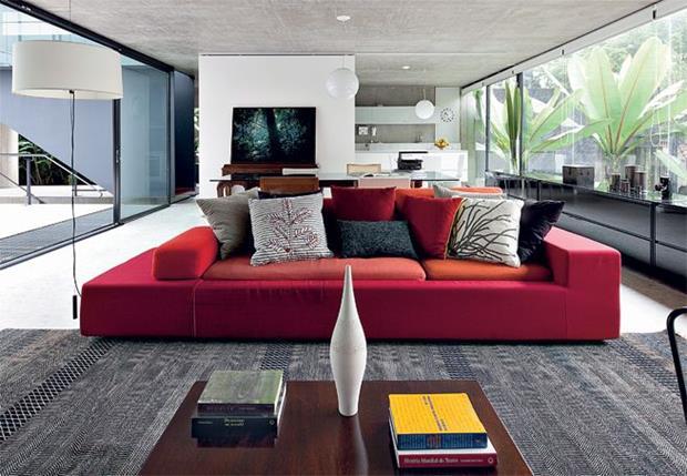 Sala De Tv Com Sofa Vermelho ~ sofa vermelho