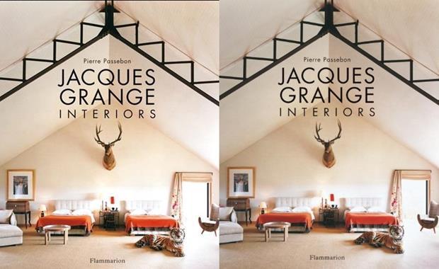 Capa do livro que apresenta o trabalho do grande nome do design mundial, o francês Jacques Grange.