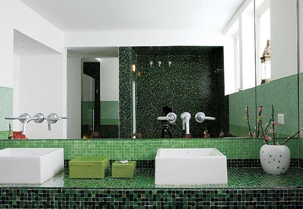 pastilhas Contemporary-Wall-Bathroom-with-Penny-Round-Tile (Copy)
