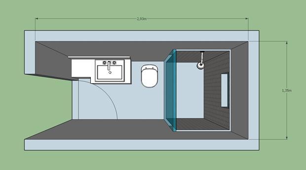 Sugestões para banheiro  Hardecor -> Banheiro Pequeno Planta Baixa
