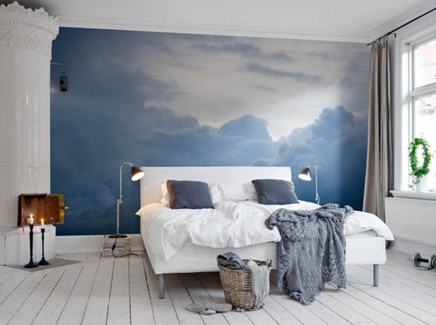 Pintura divertida hardecor for Papier peint tendance chambre