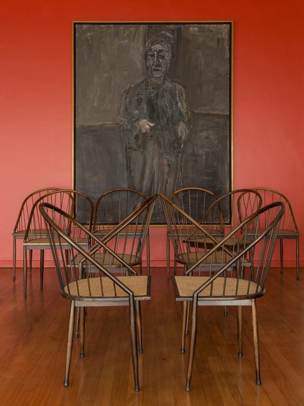 mob Cadeiras curvas com varetas -Joaquim Tenreiro -1962 -Maria -Iberê Camargo -Coleção Jones Bergamin - Copia (2) - Copia