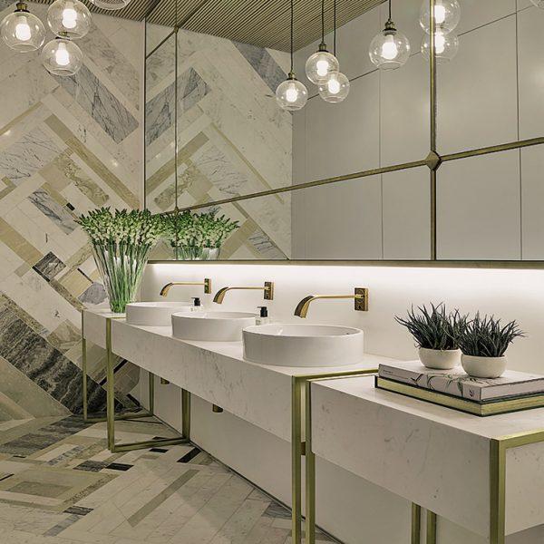 O estilo art deco do prédio do Jockey orientou as profissionais, Barbara Gomes e Guiliana Savioli no desenvolvimento do projeto.