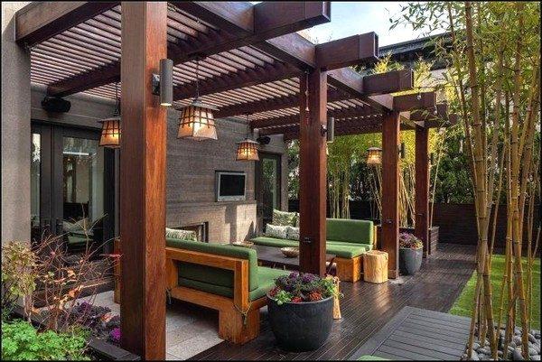 Mais formal e igualmente bacana. Repare que o mobiliário também é em tons de verde, reforçando o clima campestre.