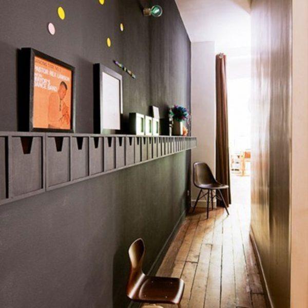 O corredor pode funcionar como local para armazenar os mais variados itens!