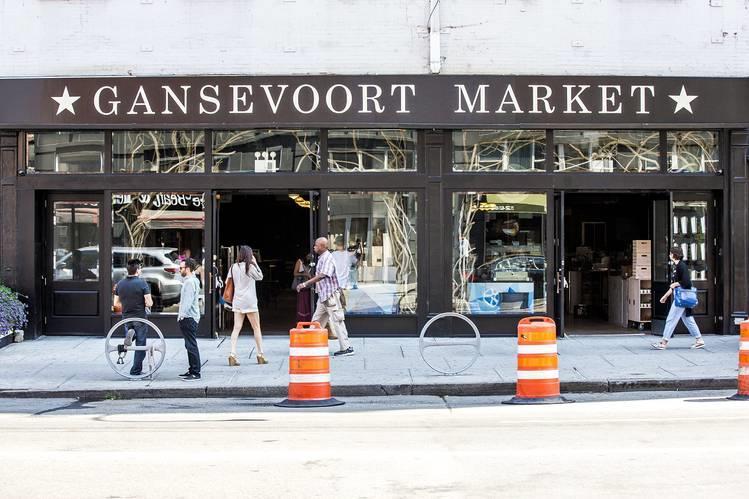 A fachada do Gansevoort Market, mercado onde se come muito bem em Nova York.