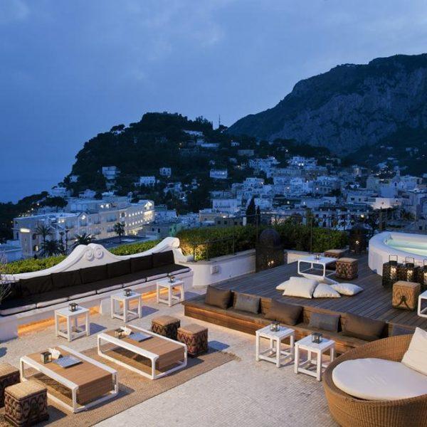 A vista de Capri.
