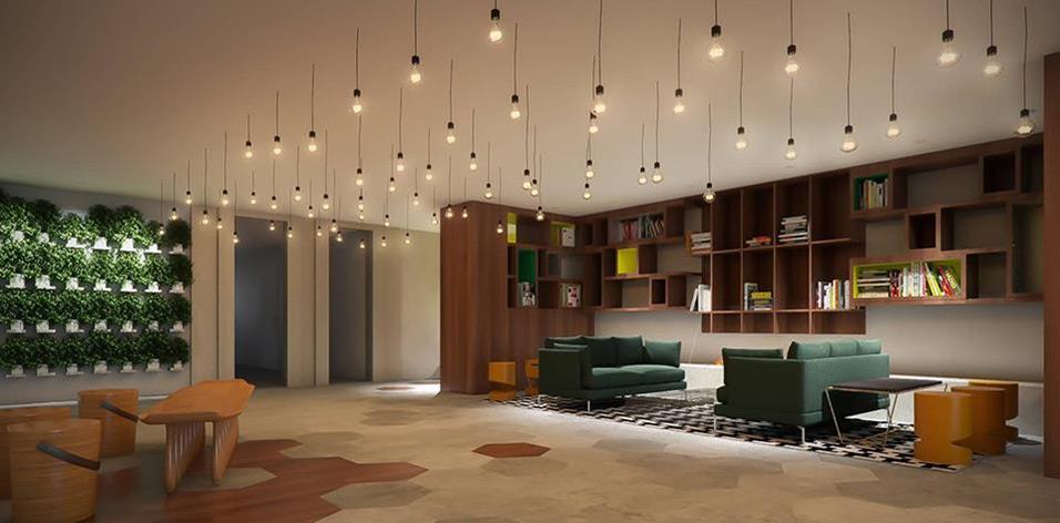 O lobby de um dos mais novos hotéis do Rio.