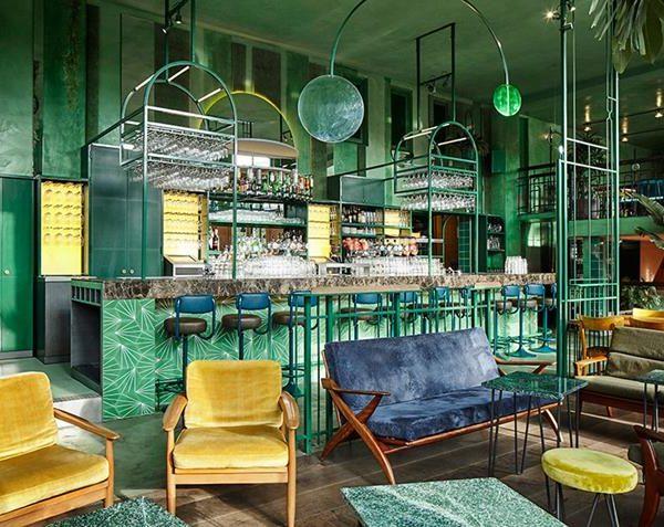 O lounge do Botanique.