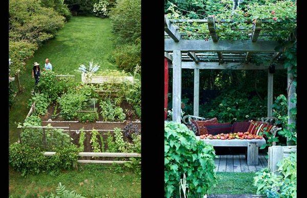 A horta e o gazebo do casal novaiorquino.