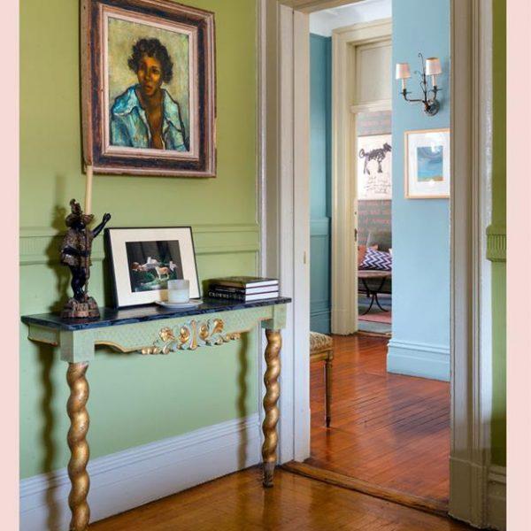 O piso original foi mantido no apartamento que é de 1901.