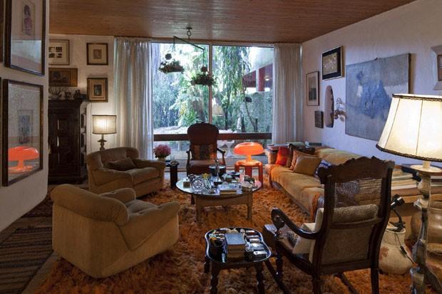 Living da casa de Jorge Zalszupin, em São Paulo.