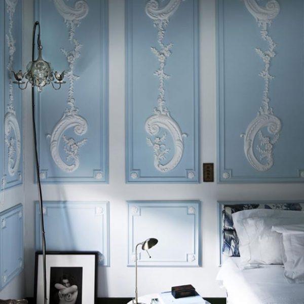 Delicadeza em azul e branco.