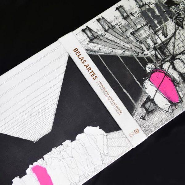 Livro comemorativo do aniversário de 91 anos da Belas Artes com arte de José Ricardo Basiches.