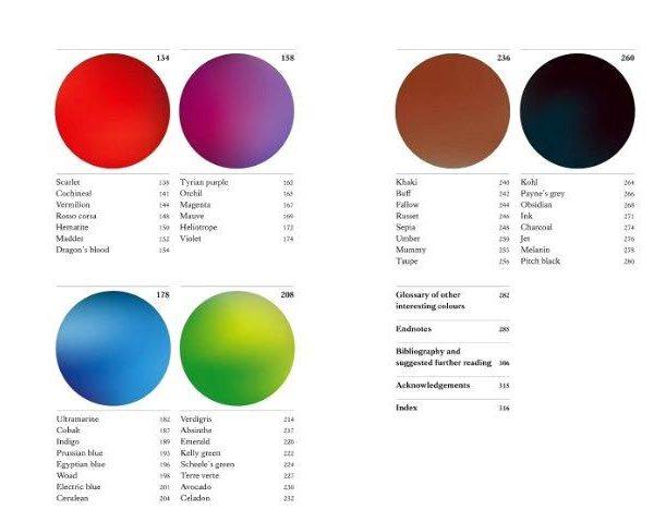 A autora fala especialmente das cores menos comuns.