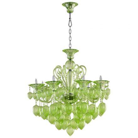 O verde pode aparecer sutilmente, como neste pendente lindo!
