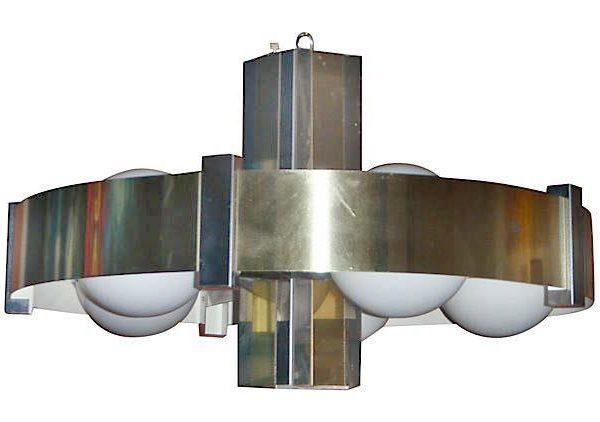 Chandelier Brass Chrome.