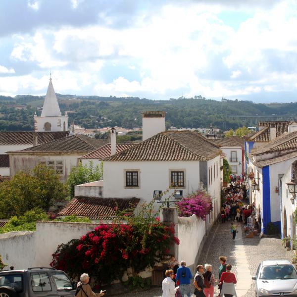 A vista na saída do castelo.