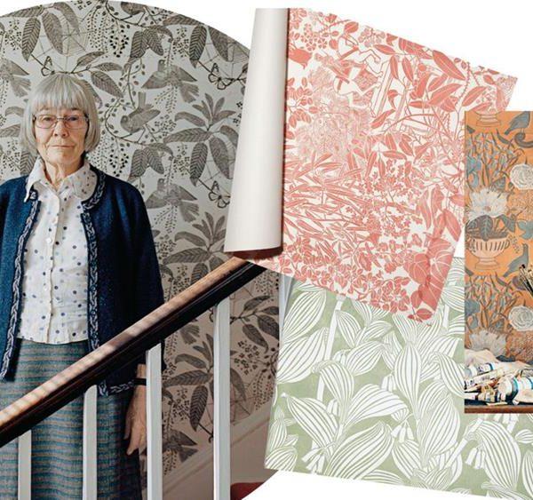 A artista inglesa e alguns de seus trabalhos.