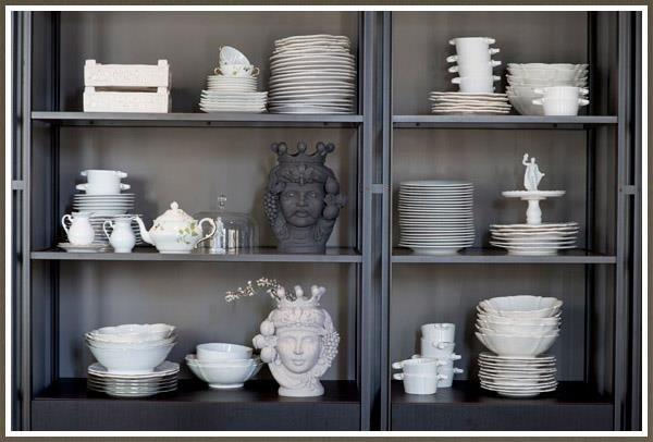 A coleção de louças do La Mantia