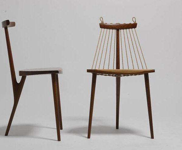 Uma de suas criações mais conhecidas, a cadeira 3 pés