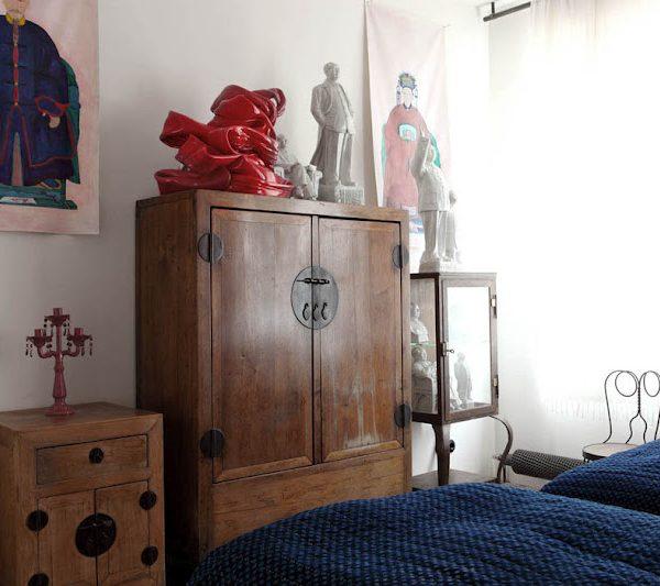 Na decoração do quarto, forte influência da cultura asisática