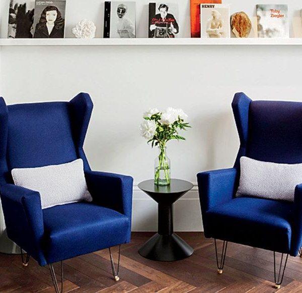 Pequeno lounge em azul
