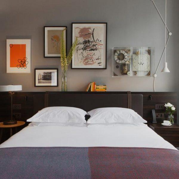 Os elementos decorativos se repetem, porém em diferentes configurações nos 52 quartos do The Laslett