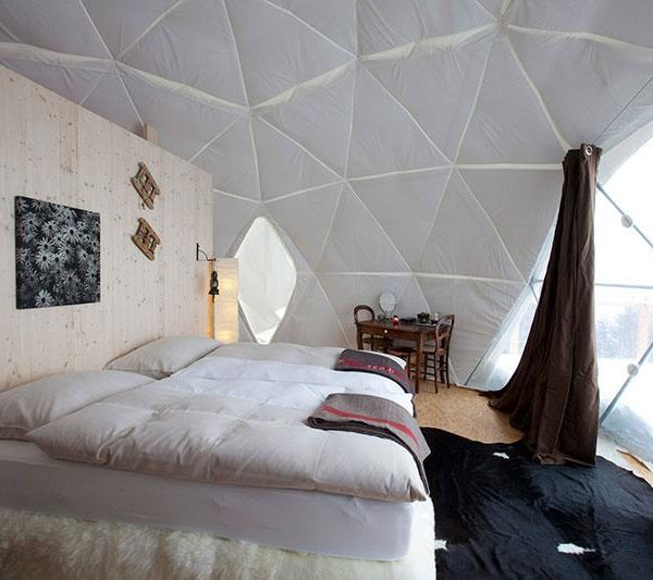 Whitepod Hotel, nos Alpes Suiços