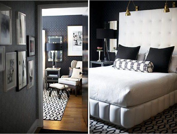 No quarto P&B, o branco aparece com mais força, em resultado igualmente elegante.