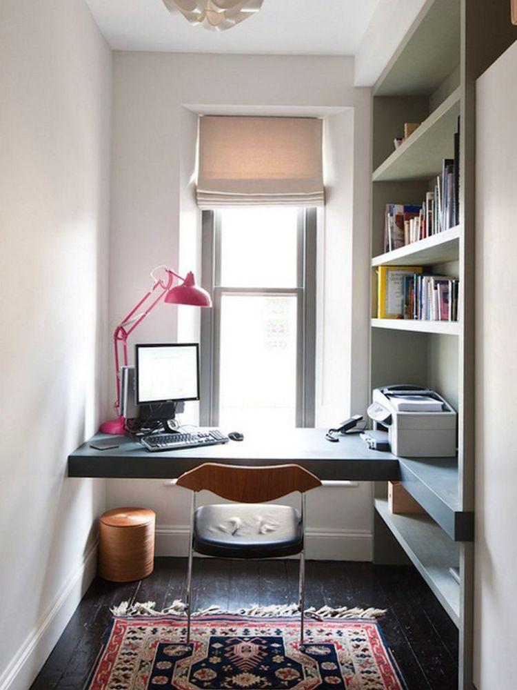 Escrit rio em espa o estreito d vida de martha s hardecor - Miniature room boxes interior design ...