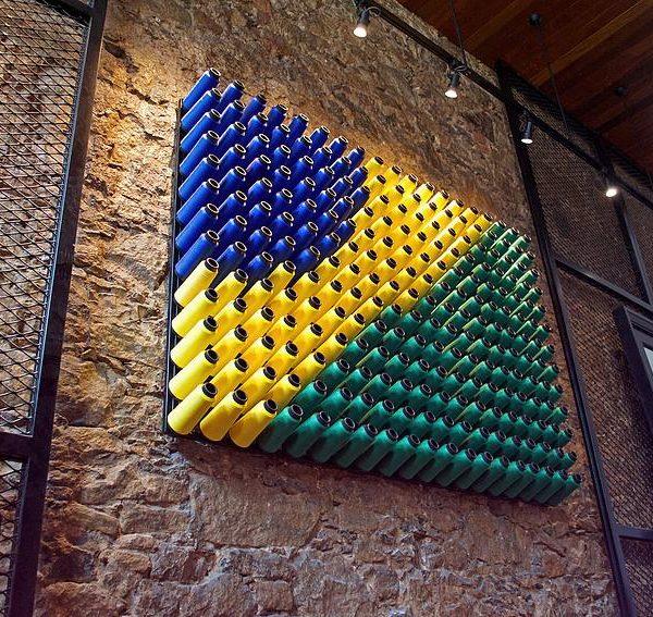 Detalhe da bandeira do Brasil