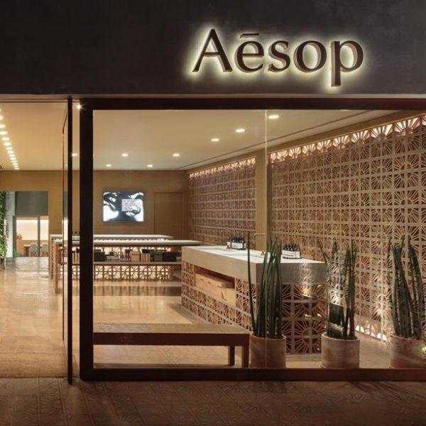 Aesop em São Paulo projetada pelos Campana, que usaram elementos bem brasileiros, como cobogós, na loja