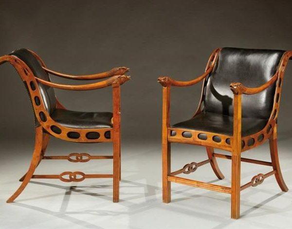 Par de cadeiras Emilio Terry, arquiteto francês