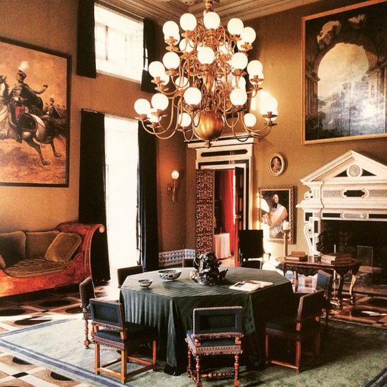 Le salon Hollandais no Chateau de Groussay, por Emilio Terry
