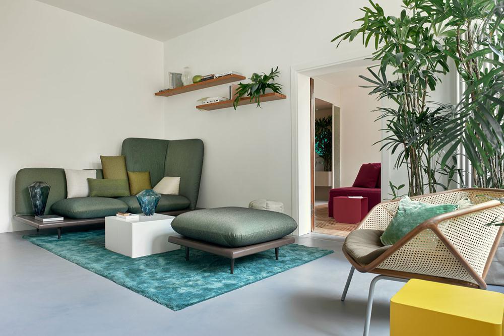 O living da Casa Flora