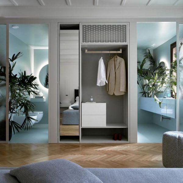 Banheiro na versão azul, um dos meus tons preferidos.