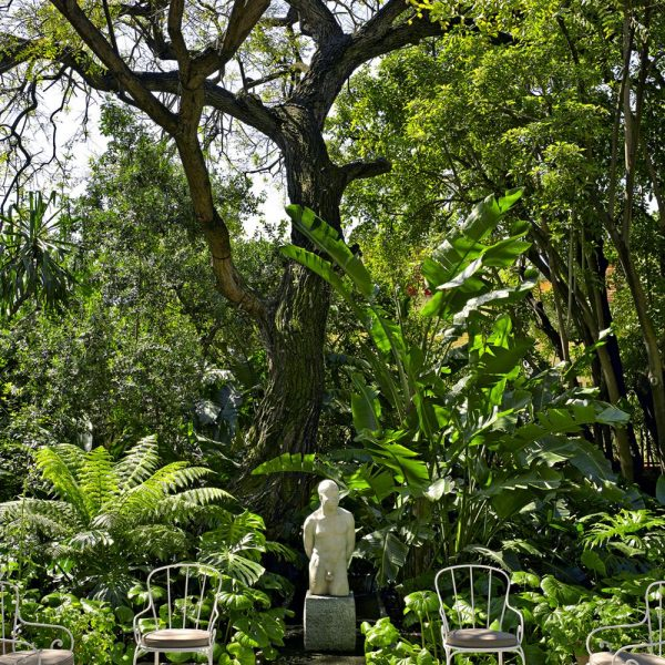 O exuberante jardim
