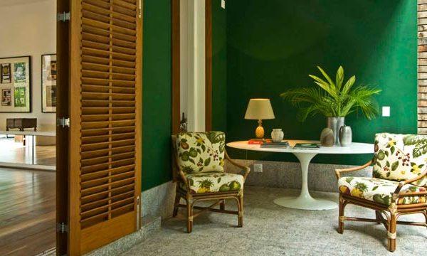 Verde + madeira = acerto