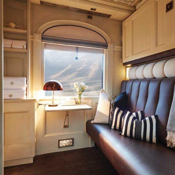 Cabines confortáveis e superestilosas, com materiais de primeira qualidade