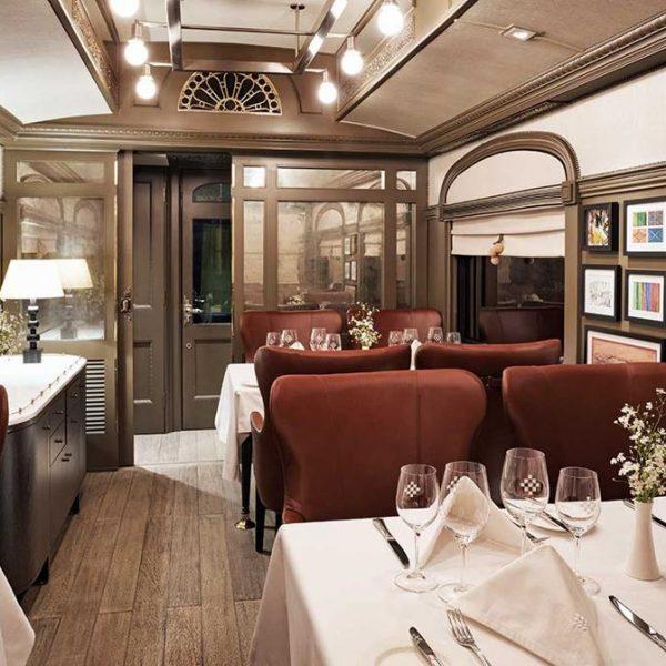 O vagão restaurante