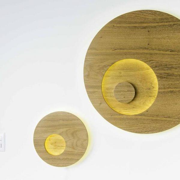 Luminária em madeira Ipanema