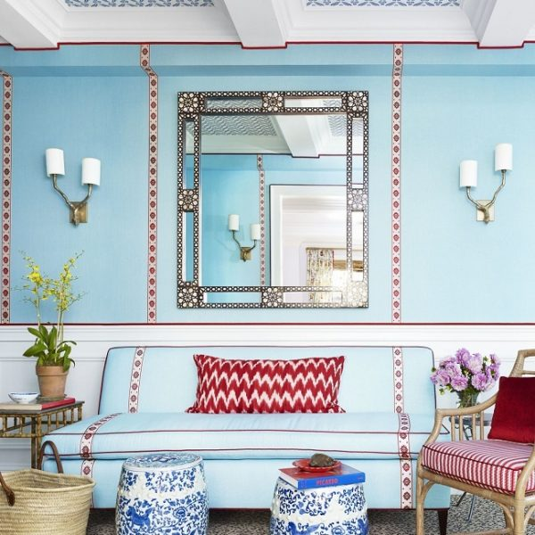 A delicadeza é ponto importante no projeto deste apartamento em Manhattan.
