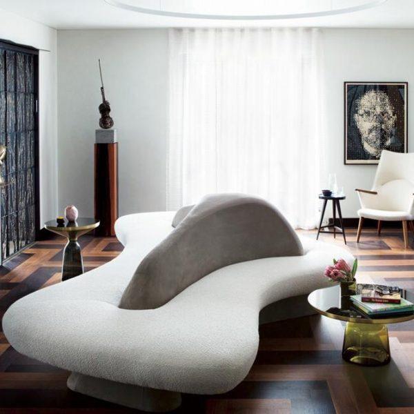 Decor com sofá assinado pelo arquiteto alemão