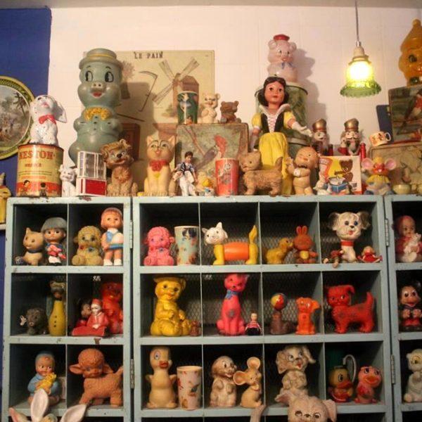 A coleção de brinquedos