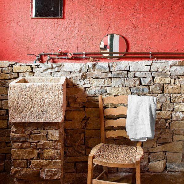 Banheiro original da construção